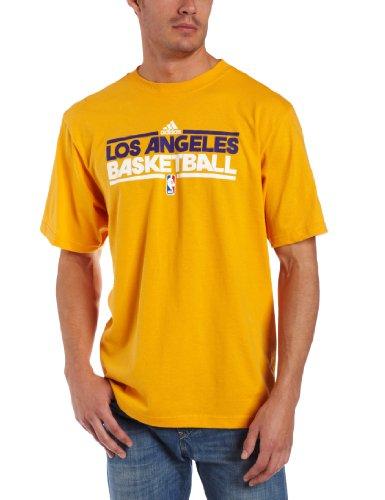 NBA Los Angeles Lakers Practice Short Sleeve Tee (Gold, Small) (Short Practice Mens Tee Sleeve)