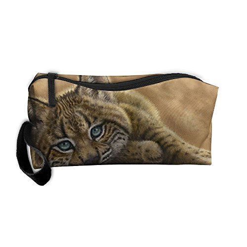 Cosmetic Bags With Zipper Makeup Bag Tiger Baby