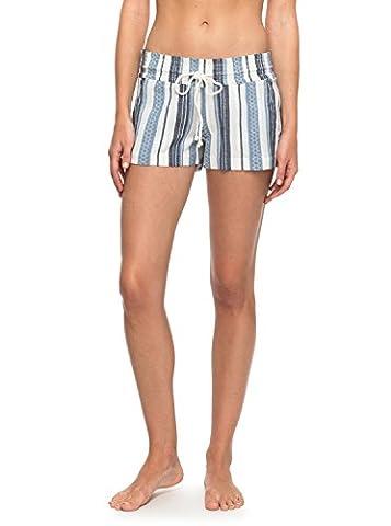 Roxy Womens Roxy Oceanside Yarn Dyed - Beach Shorts - Women - Xl - Blue Blue Depths Tobago Stripe - Dyed Cotton Short
