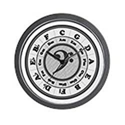 CafePress - Bass Clef Circle Of Fifths - Unique Decorative 10 Wall Clock