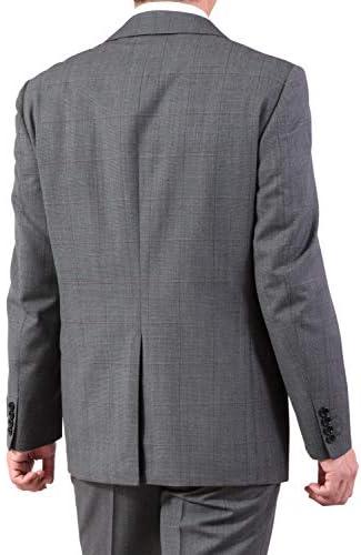 2つボタンスーツ メンズ 秋冬 程よくスリム イタリア製 ウール100%
