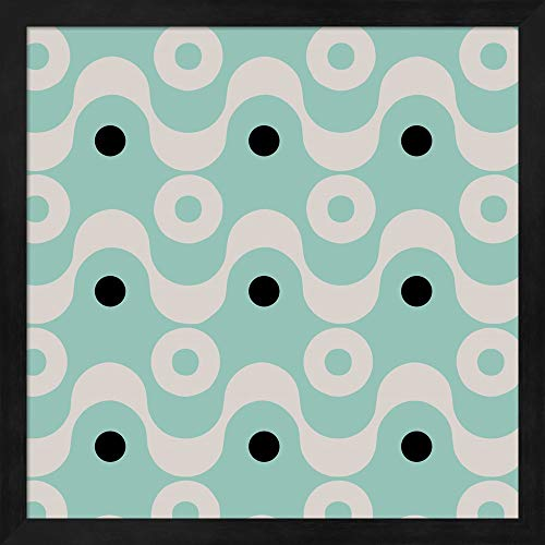 Fifties Patterns II by Color Bakery Fine Art Print with Wood Box Frame and Glass Cover, 15 x 15 -