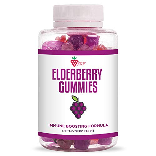 Sambucus Elderberry Gummies - with Vitamin C, Elderberry, Zinc - for Healthy Immune System Support - Natural Ingredients - Made with Plant-Based Pectin - 30 Gummies