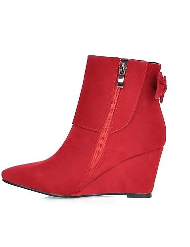 Uk8 Black Puntiagudos Amarillo Zapatos Eu42 A us6 Uk4 Casual 5 Cn43 5 Rojo Yellow Cuñas Vestido La Negro 5 De Moda Eu37 Cuña Tacón 5 Vellón 7 Mujer Xzz 5 Cn37 Botas us10 q1dSxYYZw