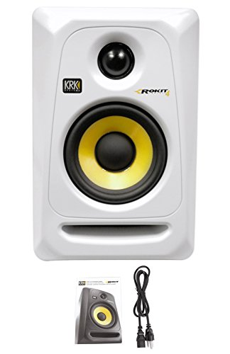 KRK  RP4G3 4'' High Performance Studio Monitor (White) by Gibson Pro Audio