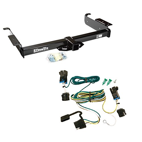 TRAILER HITCH + WIRE KIT CHEVROLET EXPRESS 1500 2500 3500 VAN (FITS: 04 05 06 07 08 09 10 11 12 )