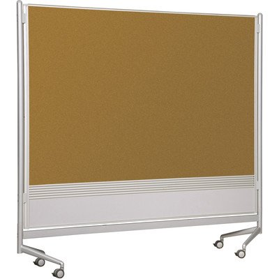 D.O.C. Partitions - Porcelain/Natural Cork (48 in. W x 72 in. H) by Best-Rite