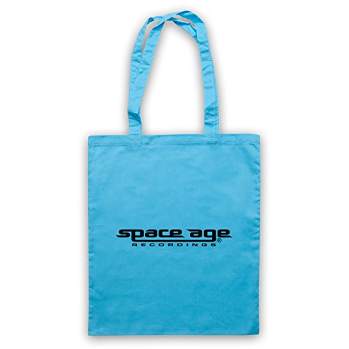Space Age Recordings® Record Label Logo Official Licensed Bolso Azul Cielo