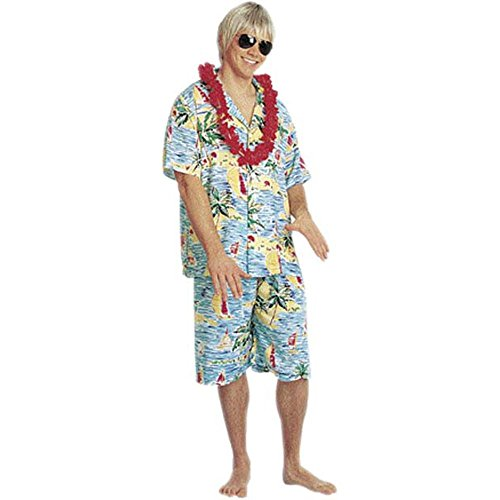 Costumes Tourist For Halloween (Men's Hawaiian Tourist Costume (One)