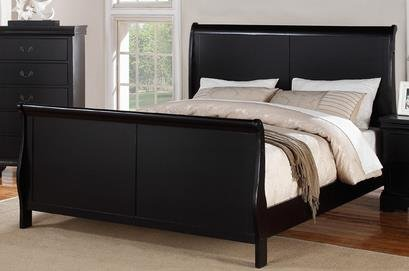 Poundex F9230CK Cal.King Bed, Black