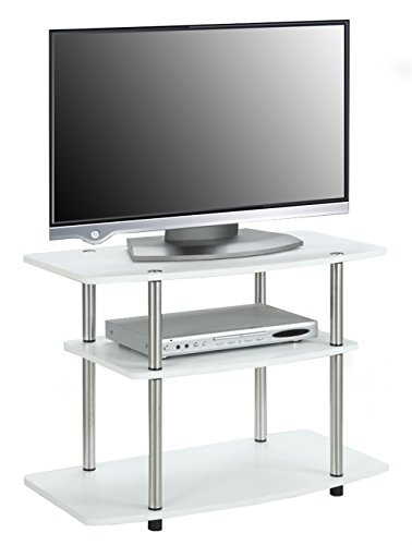 Convenience Concepts 3 Tier Tv Stand White