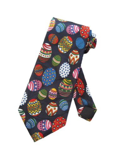 Steven Harris Mens Fabrege Easter Eggs Egg Necktie - Blue - One Size Neck Tie (Easter Tie Eggs)