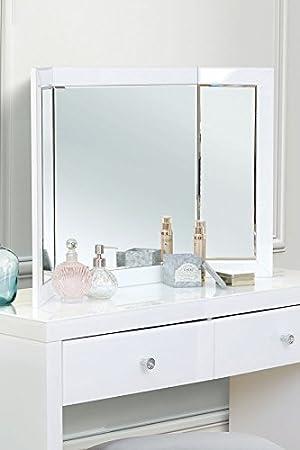 MY-Furniture - Miroir triptyque COLLETA blanc: Amazon.fr: Cuisine ...