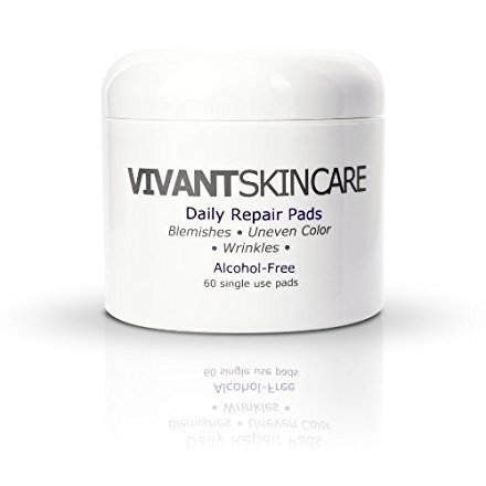 Vivant Skin Care Daily Repair Pads – Lactic Acid, Refreshing, Clarifying Repair, Rejuvenating Ingredients – 60 Single…