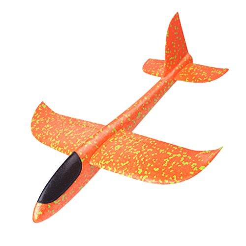 Fenteer 3カラー選ぶ 高品質 子供 屋外おもちゃ マニュアル ハンド飛行機 グライダーモデル - オレンジ