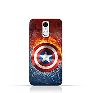 Huawei Enjoy 6 TPU Silicone Protective Case with Shield of Captain America Design