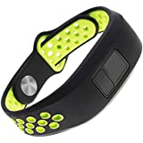 Replacement Band for Garmin Vivofit 3 Vivofit JR Junior 2 Kids Fitness Wristband Black+Green