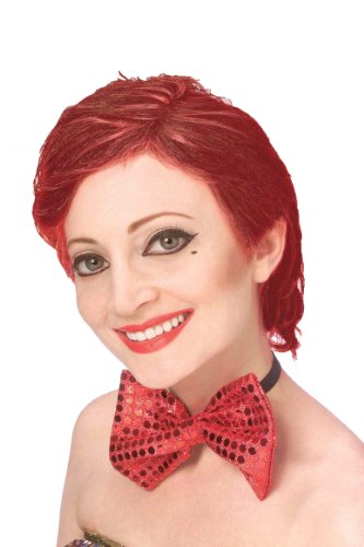 [Forum The Rocky Horror Picture Show Columbia Wig, Red, One Size] (Male Costumes Rocky Horror)