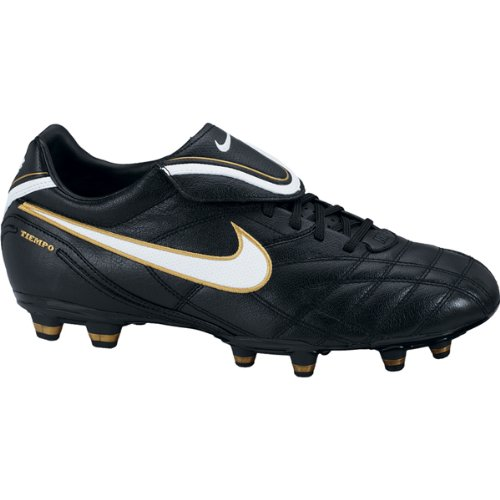 Nike Tiempo Mystic III FG Football Shoes black / white / gold, Schuhgröße:EUR 39