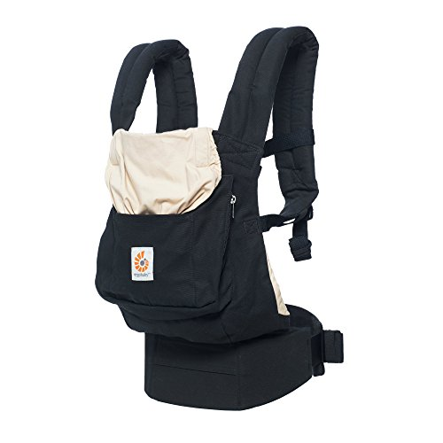 Ergobaby Original Award Winning Ergonomic Multi-Position Baby Carrier with Lumbar Support, Storage Pocket, Black/Camel
