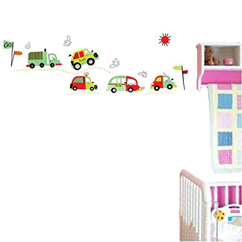 ThanaphatShop DIY Coloful Car Removable Wall Decal Stickers Art Kid Room Home Decor