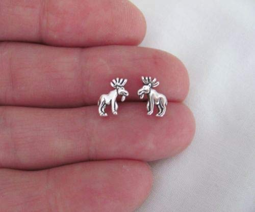 Sterling Silver 10mm Moose with Hypo-Allergeni - Jewelry Accessories Key Chain Bracelet Necklace Pendants