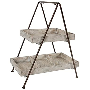 A&B Home Jardin Two Tiered Shelf, 21.7 X 14 X 26.2-Inch