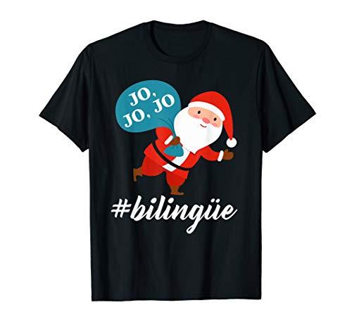 Bilingual Santa Spanish Christmas Gift T-Shirt (Spanish Christmas Merry In Gif)