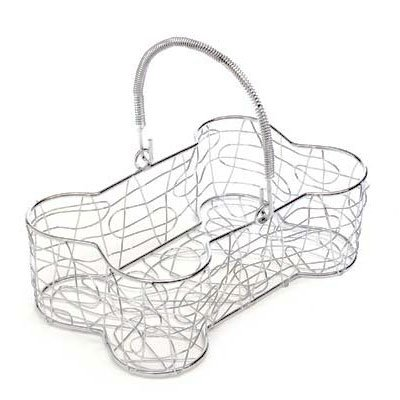 Bone Shaped Chrome Gift Basket Container
