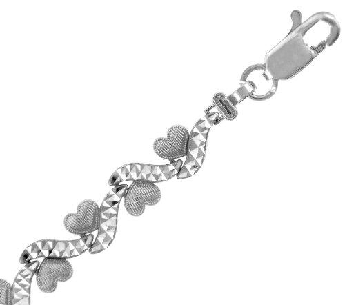Petits Merveilles D'amour - 14 ct Or Blanc Bracelet - Petits Coeurs Bracelet