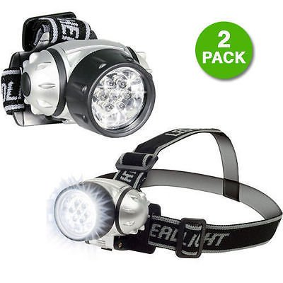 2 Set 7 LED Adjustable Head-Lamp with Pivoting Light-Head