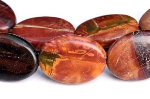 17x13mm Multicolor Picasso Jasper Flat Oval Grade Natural Loose Beads 7.5'' Crafting Key Chain Bracelet Necklace Jewelry Accessories Pendants ()