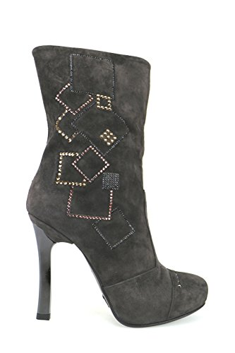 Fabi Zapatos Mujer Botas Marrón Gamuza AK812 (40 EU)