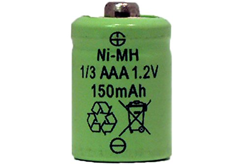 - 3 x 1/3 AAA 150 mAh Button Top NiMH Battery (for Solar Lights)