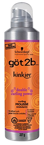 Got2b Kinkier Curling Mousse, 8-Ounce (Best Mousse To Hold Curls)