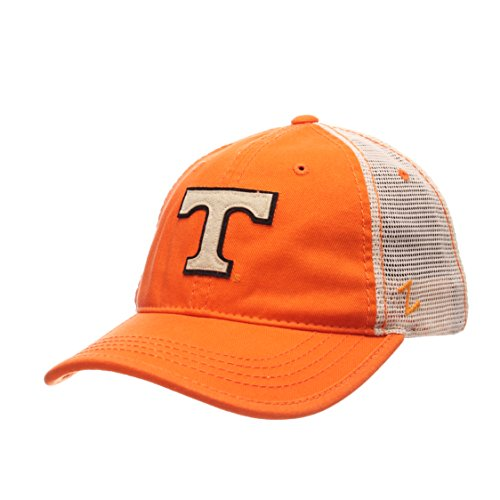 Zephyr NCAA Tennessee Volunteers Men's Summertime Hat, Stone/Orange, Adjustable