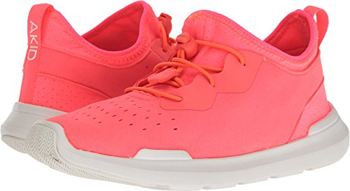 AKID Brand Baby Girl's Sutherland (Toddler/Little Kid/Big Kid) Neon Coral/White L/12 (12C-13C) M by AKID