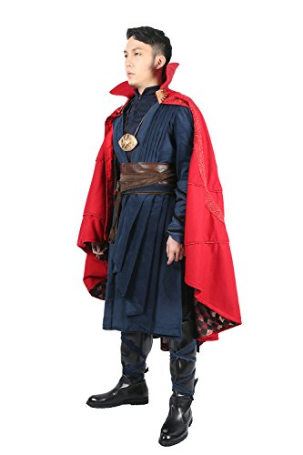 Strange Costume Deluxe Dr Outfit Red Cape Full Set Halloween Cosplay Costume XXL