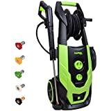 PowRyte Elite 2400 PSI 2.0 GPM Brushless Induction Electric Pressure Washer, Electric Power Washer with Hose Reel, 5 Quick-Connect Spray Tips