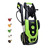 PowRyte Elite 2400 PSI 2.0 GPM Brushless Induction Electric Pressure Washer, Electric Power Washer with Hose Reel, 5 Quick-Connect Spray Tips and Onboard Detergent Tank