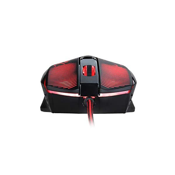Redragon M608 Wired Gaming Mouse Ergonomic LED Back Light PC Laptop Computer Gaming Mouse 4 LED Colors 2 Side Buttons…