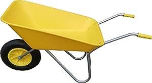 Amarillo picador plástico carretilla con rueda neumática
