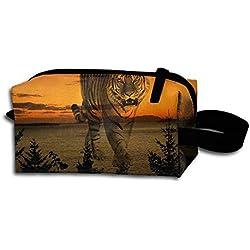 Sunsets Portable Travel Dopp Kit Bag Make Up Pouch For Men & Women
