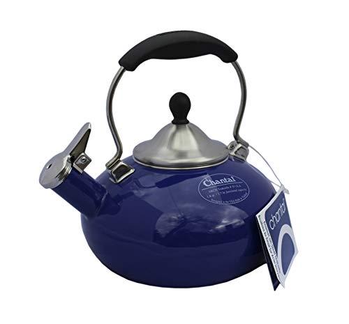- Chantal Arch Blue Enamel on Steel Whistling Teakettle - 1.8 Quart (Blue)