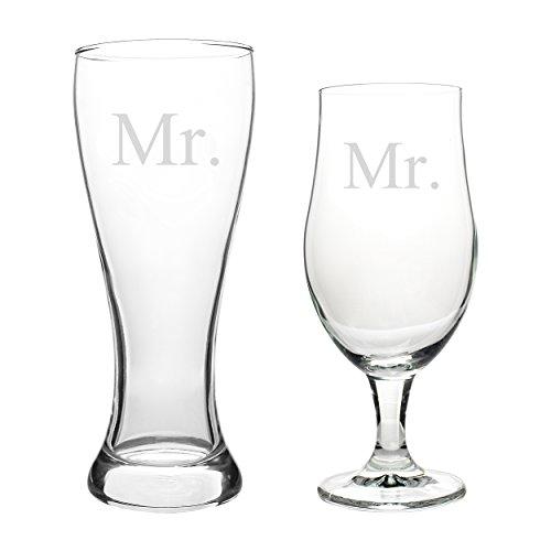 Pilsner Glasses Cathys Concepts - Cathy's Concepts Mr. & Mr. Pilsner Set