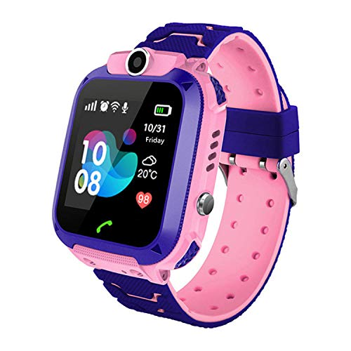 - Kids Smartwatch - GPS Tracker Smartwatches Wrist Digital Watch Phone SOS Alarm Clock Camera Flashlight Phone Watch for Children Age 3-10 Boys Girls with iOS Android Gifts (Blue)