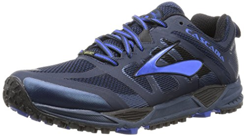 Brooks Heren Cascadia 11 Gtx Jurk Blues / Electric Brooks Blauw / Zwart