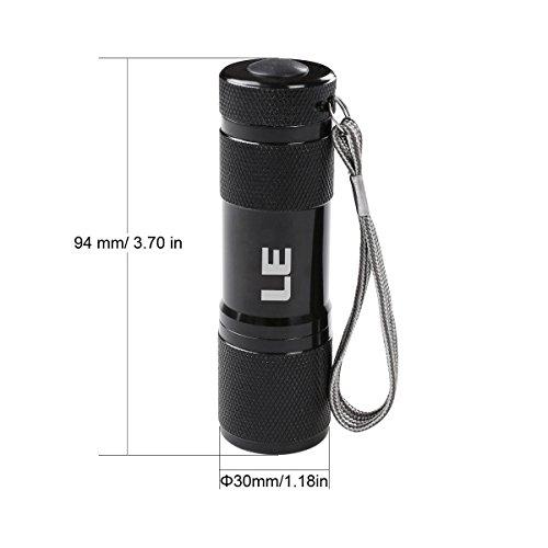 Mini LED UV Torch 395nm Ultraviolet Flashlight Blacklight Pet Stain Detector UK