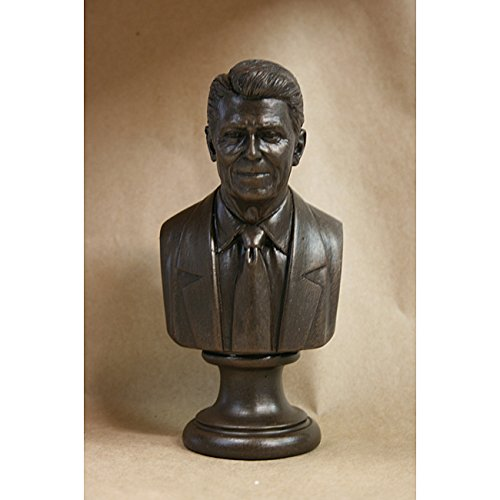 Bronze Finished Bonded Marble Bust of Ronald Reagan (Reagan Bronze)