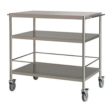IKEA FLYTTA - carro de cocina, acero inoxidable - 98x57 cm